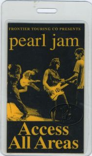 Pearl Jam 1998 All Access Laminated Backstage Pass