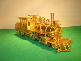 ON2 Brass Car Works Bridgton Harrison Rwy 2 4 4T Loco 7 Can Motor