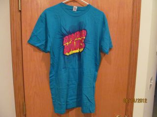 Bruno Mars Blue Tee Shirt Size Large Athletic Cut New Without Tags
