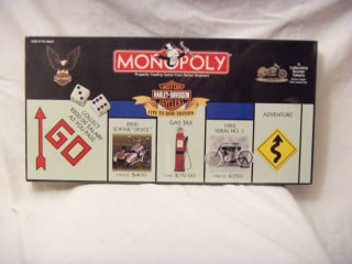 New Harley Davidson Monopoly Game Parker Brohers Live o Ride Ediion