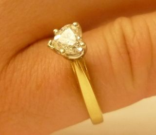 Heart Shape Brill Cut Diamond Engagement Ring, Cathedral setting