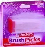 Doctors Brushpicks Dental Toothpicks 120 Each 5 Pack