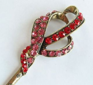 Vary Colors Swarovski Crystal Bronze Hair Stick Pin Pick 390