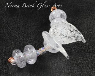 Norma Brink Boro Glass Lampwork Beads Fairy Angel Wings