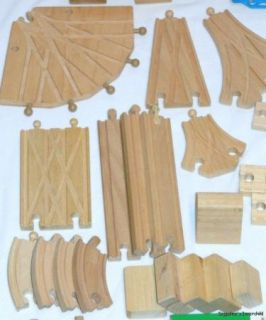 167pc Wooden Toy Train Lot Brio TC Timber+ Engines Vehicles Tons of