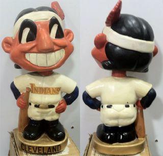 1967 72 Cleveland Indians Vintage Mascot Head Nodder Bobble Head Doll