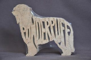 Chinese Crested Powder Puff Wood Amish Toy Dog Puzzle