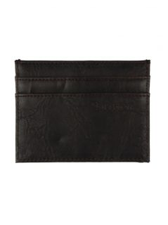 Brixton Clothing Mens Otis ID Card Holder Leather Wallet Dark Brown