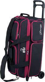 BSI Black Red 3 Ball Roller Bowling Bag