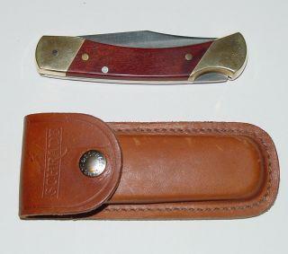 Schrade Uncle Henry Lock Blade Buck Knife LB7 AX73060 Unused w Holder