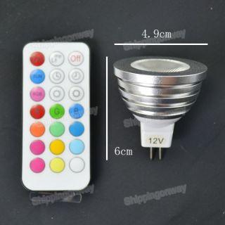 MR16 5W RGB Energy saving Color change High Power LED Bubl