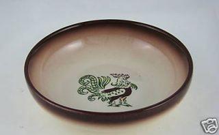 Brock California Pottery Chanticleer Round Bowl 6 5 D