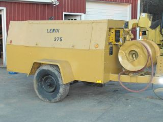 Leroi Diesel powered towable Air Compressor Cummins Turbo Diesel 375
