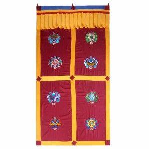 Tibetan Lucky Welcome Door Wall Curtain Hanging 36X75