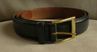 Mens Coach Black Leather Bromfield Harness Belt, size 36