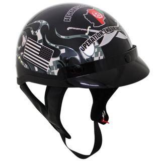 Operation Enduring Freedom DOT Motorcycle HALF Helmet Afghanistan OEF