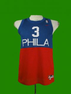 Sixers 76ers Allen Iverson Throwback Jersey Sewn Nike Youth L
