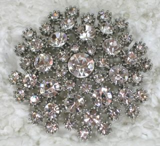 Clear Rhinestone Crystal Pin Brooch for Wedding C653