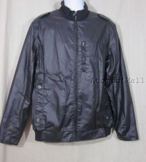 Mens Buffalo David Bitton Black Motorcycle Jacket L