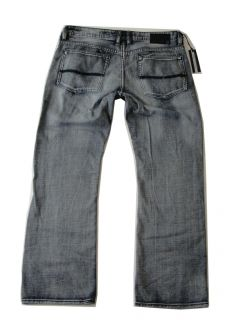 Buffalo David Bitton Driven Jeans Mens 34x32 $109 Blasted Blue Wash