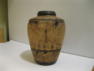 Weller Arts and Crafts Pottery Burntwood Lebanon Pottery Vase Nice