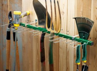 New 38 Wall Mounted Garden Tool Rack Organizer Garage Shed Storage