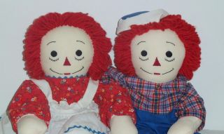 OOAK VTG LARGE HANDMADE PLUSH RAGGEDY ANN ANDY I LOVE YOU HEART DOLL