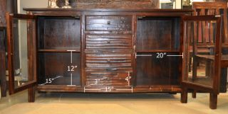 reclaimed wood 2 door 4 drawers sideboard cabinet buffet clearance