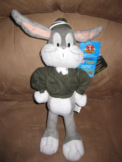 Bugs Bunny Army New Licensed Plush Stuffed New with Tags 16 Looney