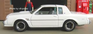 1987 Buick Regal T Type Opening Hood 3 8L SFI Turbo V6 1 64 Diecast