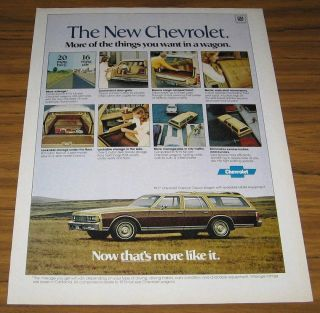 1977 VINTAGE AD~THE 77 CHEVROLET CAPRICE CLASSIC STATION WAGON