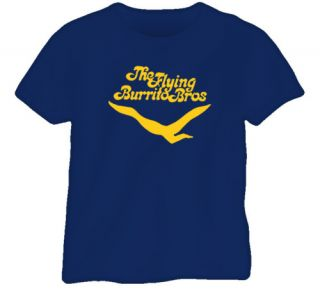 Flying Burrito Brothers Cool Music Navy Blue T Shirt