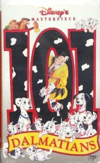 Walt Disneys 101 Dalmatians Classic Cartoon on VHS Tape Like New Mint