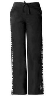 baby phat zebra kingdom scrubs pants 26073 blkp more options