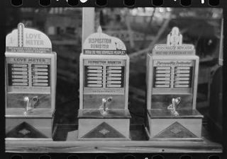 Machines in penny arcade,state fair,Donaldsonville,Louisiana