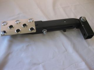 Rotating Tailgate Trailer Hitch Receiver Adjustable Extension Step