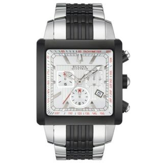 NEW* Bulova Accutron Mens Masella Stainless Steel Chronograph Watch