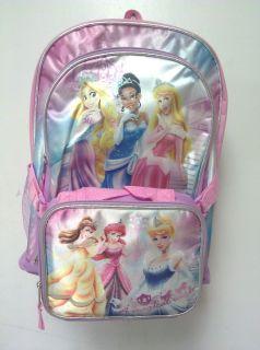 Disney Princess 16 backpack with detachable lunchbox Ariel Mermaid