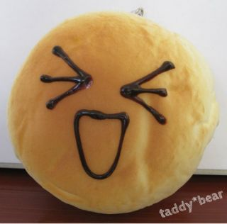 Jumbo Very Large Bread Bun Squishy Phone Strap Super Excited Face