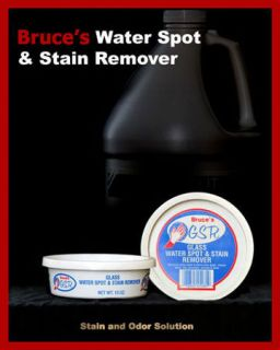 Bruces Glass Water Spot Stain Remover 10 oz Tub