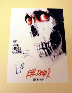 Evil Dead 2 Cast PP Signed 12x8 Poster Bruce Campbell