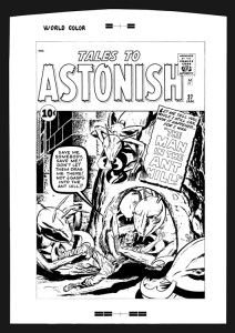 Jack Kirby Tales To Astonish #27 Rare Large Production Art Cover