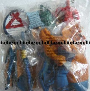 Burger King Toy Fantastic Four Set of 6 Mint Thailand