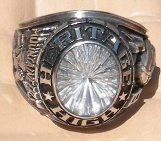 Star Brust CZ High School Class Ring WV Mountaineers 1981 Football