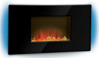 Wall Mount Fireplace Heater Flat Panel Wall Hung LED Fire