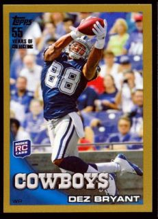 Dez Bryant 2010 Topps Gold Border Parallel Edition RC 2010 Dallas