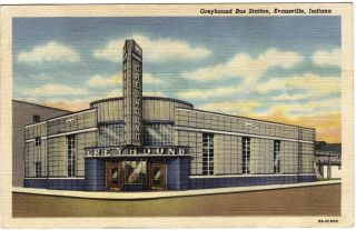 Greyhound Bus Station, Evansville, Indiana, WWII Soldier address, 1942