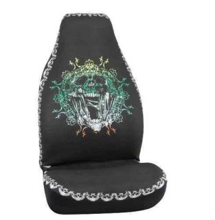 Frantic Skull Bucket Seat Covers Car Truck SUV CUV Van