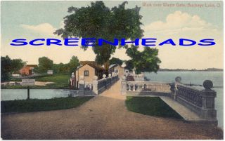 C1911 Walk Over Waste Gate Buckeye Lake Ohio Postcard