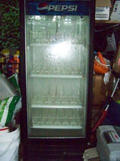 Slightly Used Pepsi Cooler with Light and Shelves in It